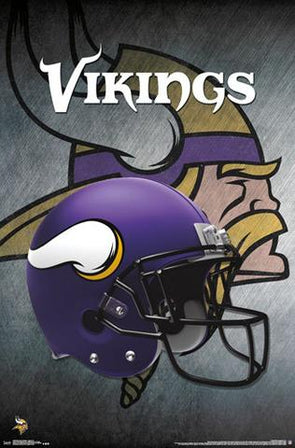 Minnesota Vikings Helmet Football NFL Poster