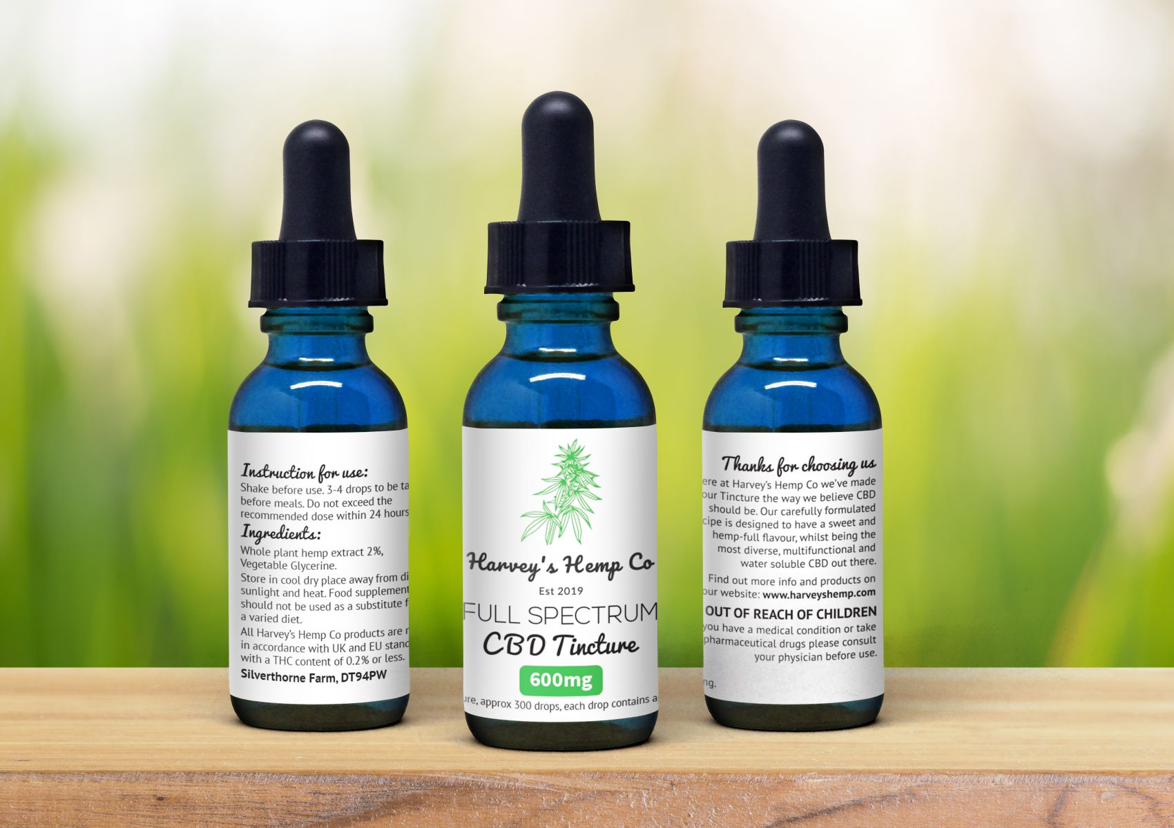 CBD Tincture 600mg - 30ml