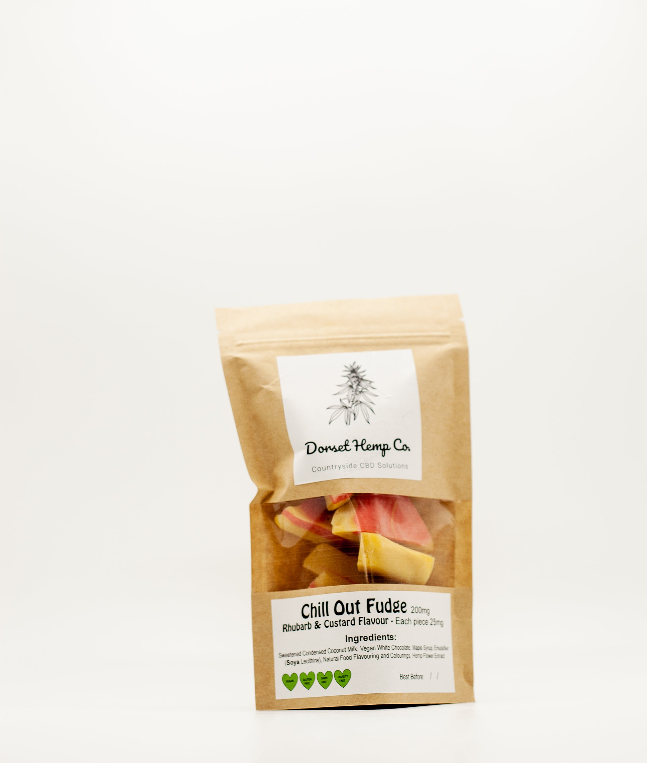 Chill Out Fudge - Rhubarb & Custard Flavour - 200mg