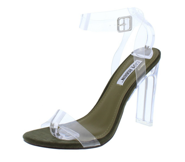 Khaki Lucite Open Toe Heel - Fly Shoe Boutique and Accessories