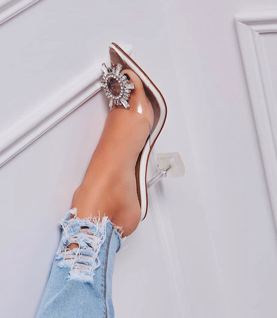 Cinderella Perspex Heels - Fly Shoe Boutique and Accessories