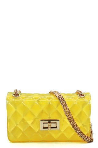 Gel Crossbody Bag-Neon Yellow