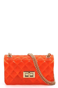 Gel Crossbody Bag-Orange