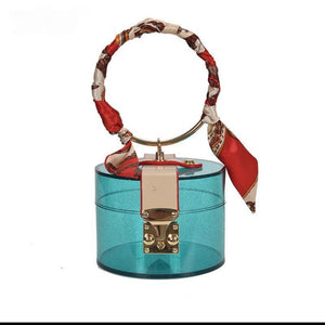 CUTTIE PIE TRANSPARENT BAG-BLUE