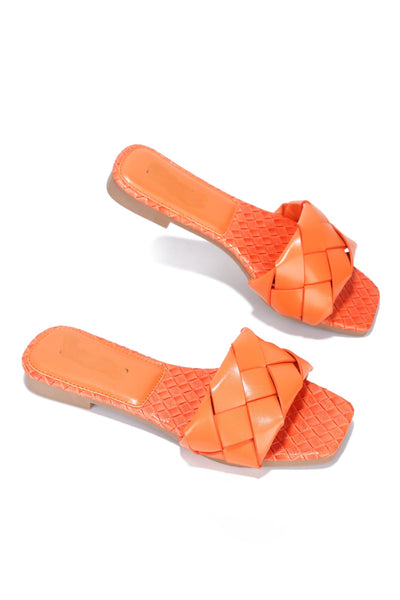 DEJA WOVEN SLIDE-ORANGE