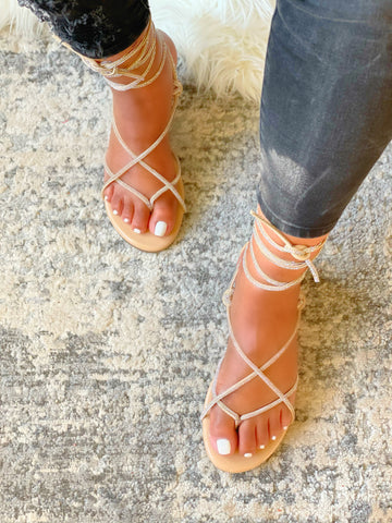 HONEYY ANKLE STRAP SANDALS-NUDE
