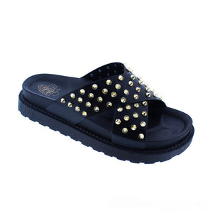 AIRY SPIKED SLIDES