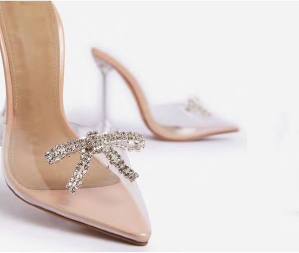 ALL-THAT DIAMANTE BOW HEEL