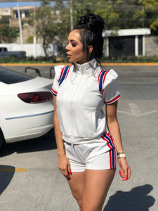 Sporty Two Piece Short Set - Fly Shoe Boutique and Accessories