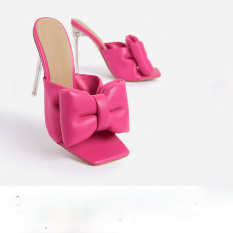 ROYALTY LARGE BOW HEELS-PINK