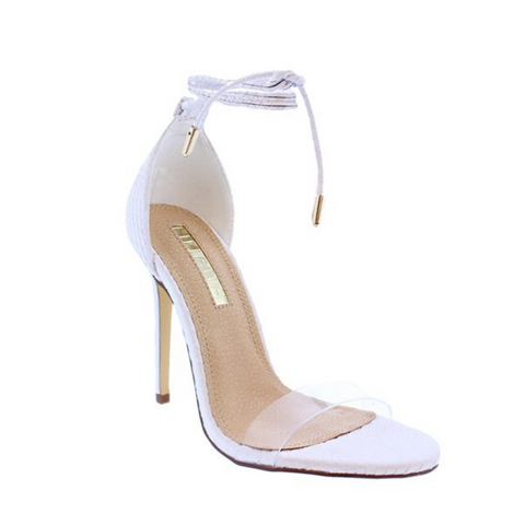 White Snake Heels - Fly Shoe Boutique and Accessories