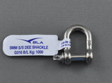 STAINLESS D SHACKLE 316