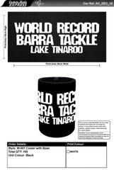 WORLD RECORD BARRA TACKLE STUBBY COOLER