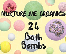 Load image into Gallery viewer, Gift Set of 24 Nurture Me Organic Bath Bombs, Large Bath Fizzies All Natural with Organic Shea & Cocoa Butter - ardenorganics.com