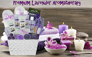Premium Deluxe Bath & Body Gift Basket. Ultimate Large Spa Basket! #1 Spa Gift Basket for Women (Lavender Chamomile) - ardenorganics.com