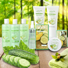 Load image into Gallery viewer, Cucumber Melon Deluxe XL Gourmet Gift Basket with Essential Oils. 20-Piece Luxury Spa Gift Set with Bath Bombs, Body Lotion, & More! - ardenorganics.com
