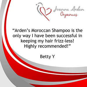 Joanne Arden Argan Oil Shampoo & Conditioner Set, Formula with Keratin & Dead Sea Minerals. Volumizing & Moisturizing for All Hair Types 26.5 oz each - ardenorganics.com