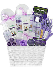 Load image into Gallery viewer, Premium Deluxe Bath & Body Gift Basket. Ultimate Large Spa Basket! #1 Spa Gift Basket for Women (Lavender Chamomile) - ardenorganics.com