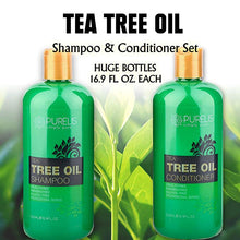 Load image into Gallery viewer, Purelis Tea Tree Oil Shampoo & Conditioner Set, Tea Tree Shampoo + Tea Tree Conditioner for Deep Cleansing & Hydrating - ardenorganics.com