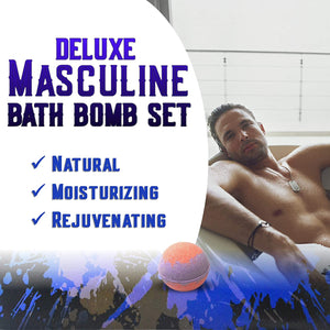 Bath Bomb Gift Sets for Men. 24 Therapeutic Aromatherapy Mens Bath Bombs. XL Shea Bath Bombs for Men. Relaxation Gift Set for Him.Best Gift for Dad & Fathers Day Gift Sets!