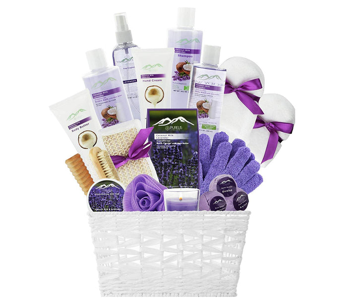 Premium Deluxe Bath & Body Gift Basket. Ultimate Large Spa Basket! #1 Spa Gift Basket for Women (Lavender & Coconut Oils) … - ardenorganics.com