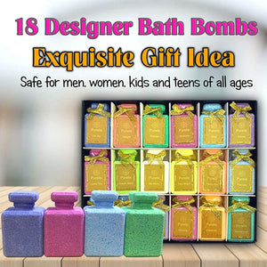 Perfume Gift Sets for Teens & Women Bath Bombs Set - Designer Fragrance Gift Set -18 Eu De Toilette Spa Bath Bombs for Women. Best Bath Bombs for Teenage Girls Party Favors.#1 Gifts for Teenage Girls!