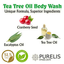 Load image into Gallery viewer, Purelis Tea Tree Body Wash, 26.5 oz, Best Sulfate Free Tea Tree Wash - Antifungal Soap, Foot Soak for Athlete's Foot, fungus etc. Tea Tree Oil Soap. - ardenorganics.com