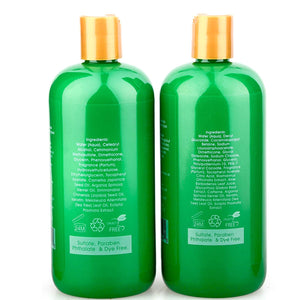 Hair Growth Shampoo & Conditioner Set - Sulfate Free Shampoo Set for Hair Loss & Thinning Hair - Best Fast Hair Regrowth Shampoo and Conditioner. For Women & Men All Hair Types 16.9 oz each bottle - ardenorganics.com