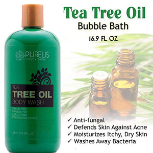 Purelis Tea Tree Body Wash, 26.5 oz, Best Sulfate Free Tea Tree Wash - Antifungal Soap, Foot Soak for Athlete's Foot, fungus etc. Tea Tree Oil Soap. - ardenorganics.com