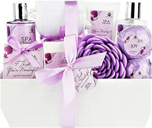 "Load image into Gallery viewer, Deluxe Spa Basket, ""I Think You're Wonderful"" Gift Basket for Women. Bath & Body 10-Piece Gift Set. - ardenorganics.com"