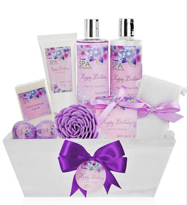 Birthday Gift Basket Spa Kit - Spa Basket Bath & Body Birthday Basket Gift Set is the #1 Women Birthday Gift for Wife, Mom & Friends! Spa Gift Basket #1 Best Birthday Gift Baskets for Women! - ardenorganics.com