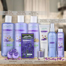 Load image into Gallery viewer, Lavender Spa Gift Basket by Purelis - Aromatherapy Spa Kit for Women, Premium Special Bath and Body Relaxation Gift! … (XL SPA BASKET) - ardenorganics.com