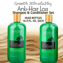 Load image into Gallery viewer, Hair Growth Shampoo & Conditioner Set - Sulfate Free Shampoo Set for Hair Loss & Thinning Hair - Best Fast Hair Regrowth Shampoo and Conditioner. For Women & Men All Hair Types 16.9 oz each bottle - ardenorganics.com
