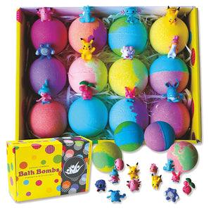 Bath Bombs for Kids with Surprise Inside. Go Party 12 Huge Surprise Bath Bombs with Pokeman Toys. Individually Wrapped - Makes Great Party Favors for Birthday Parties & Kids Parties. Bath Time Fun! - ardenorganics.com
