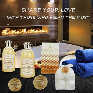 Spa Gift Basket for Women & Teens: Sensational Bath & Body Spa Kit, Mothers Day Gift! Sulfate Free Bubble Bath, Body Butter, Bath Bombs & More! - ardenorganics.com
