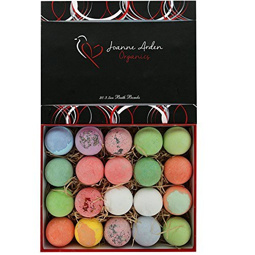 20 HUGE Joanne Arden Organics USA Vegan Bath Bombs Kit- Lush Spa Fizzies-Best Gift Ideas, Lush Bath Bombs Gift Set for Men Women & Kids! - ardenorganics.com