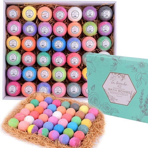 Bulk Bath Bomb Gift Set - 42 Bath Bombs for Kids, Women & Men! Ultra Lush Bath Bombs Perfect Gift Set for Women! - ardenorganics.com