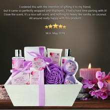 "Load image into Gallery viewer, Premium Large Spa Basket,""All The Best Wishes"" Gift Basket for Women. Bath & Body 10-Piece Gift Set. Best Holiday Gift for Women Gift Baskets for Sympathy Gift, Spa Gift Baskets for Women - ardenorganics.com"