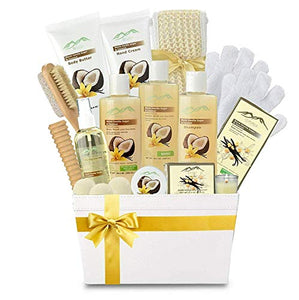 Premium Deluxe Bath & Body Gift Basket. Ultimate Large Spa Basket! #1 Spa Gift Basket for Women Body Lotion Gift Set! - ardenorganics.com