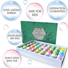 Load image into Gallery viewer, La Bombe Bulk Bath Bomb Gift Set - 40 Bath Bombs for Kids, Women & Men! Ultra Lush Bath Bombs Perfect Gift Set for Women! - ardenorganics.com