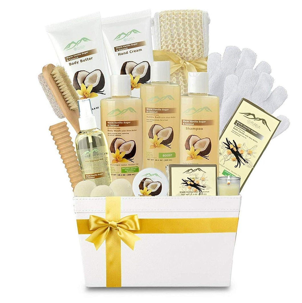 Premium Deluxe Bath & Body Gift Basket. Ultimate Large Spa Basket! #1 Spa Gift Basket for Women & Bath Gift Sets for Women!! - ardenorganics.com