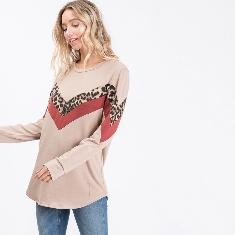 Alison Cream Leopard Top