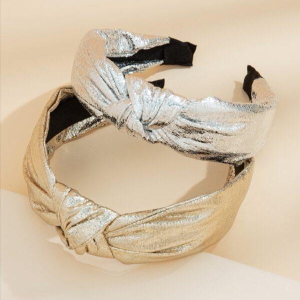 2pcs Metallic Knot Hairband