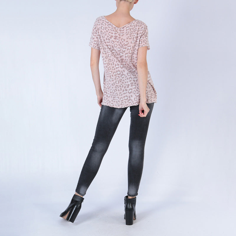 Laura Leopard Top Light Pink