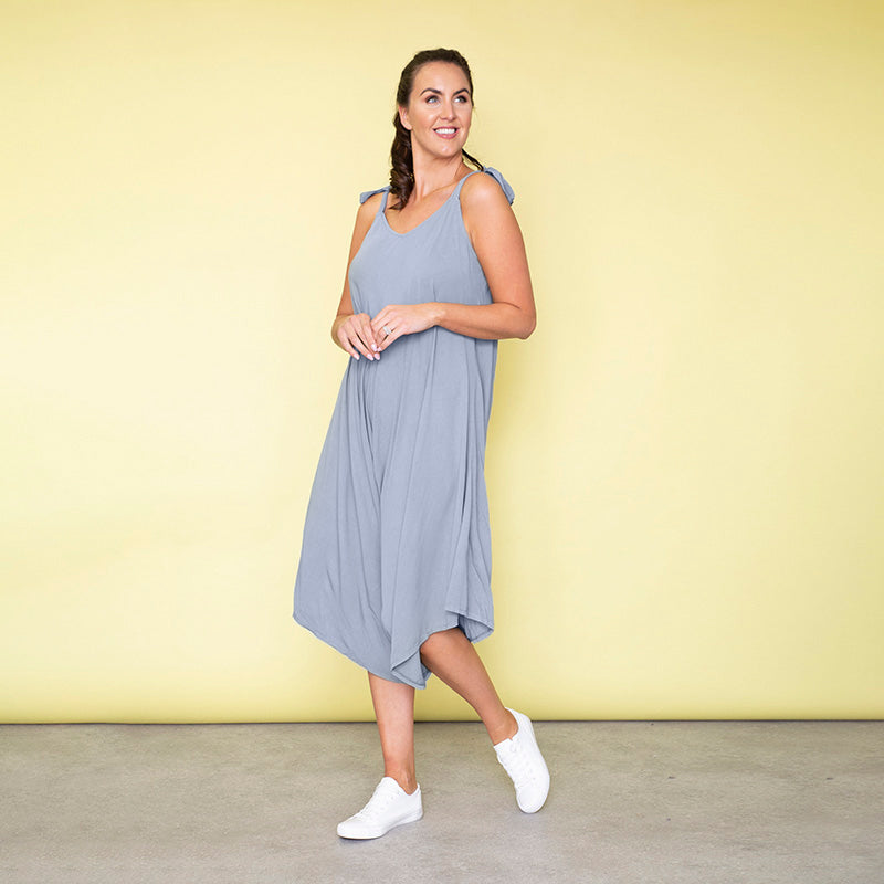 Frankie Relaxed Fit Jumpsuit (Baby Blue)