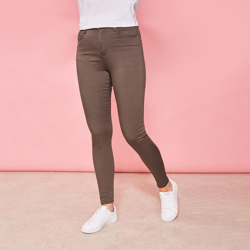 Yana Stretch Trousers (Khaki)