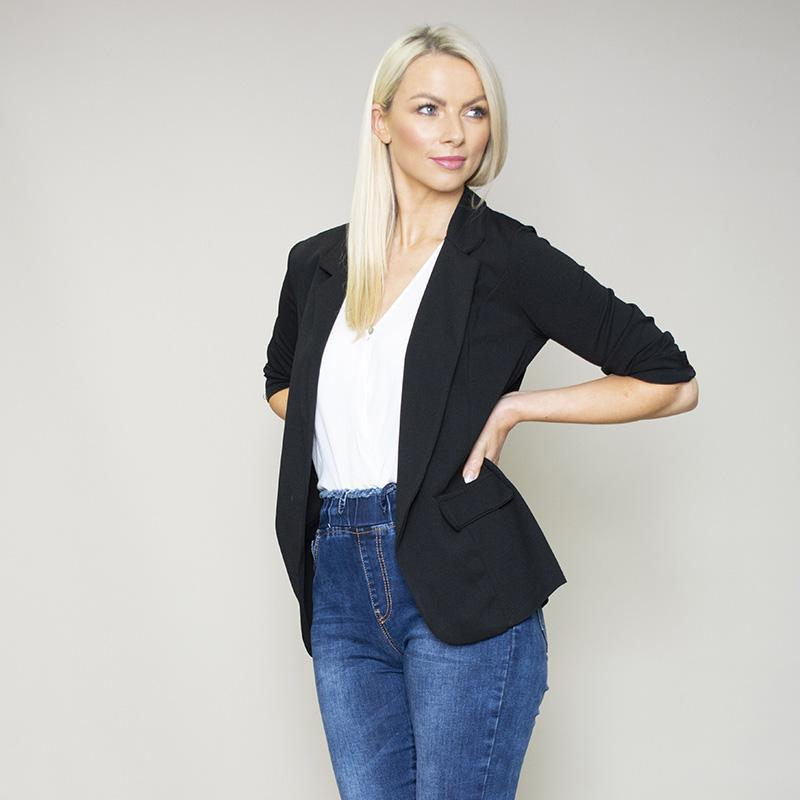 Rosalyn Stretch Blazer (Black)