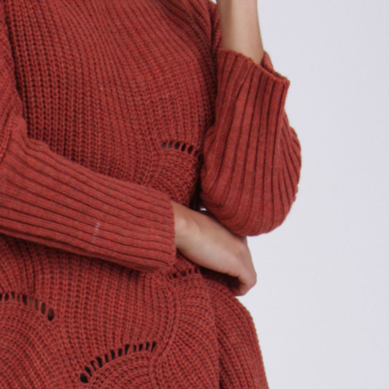 Kira Knit Oversized Sweater Rust