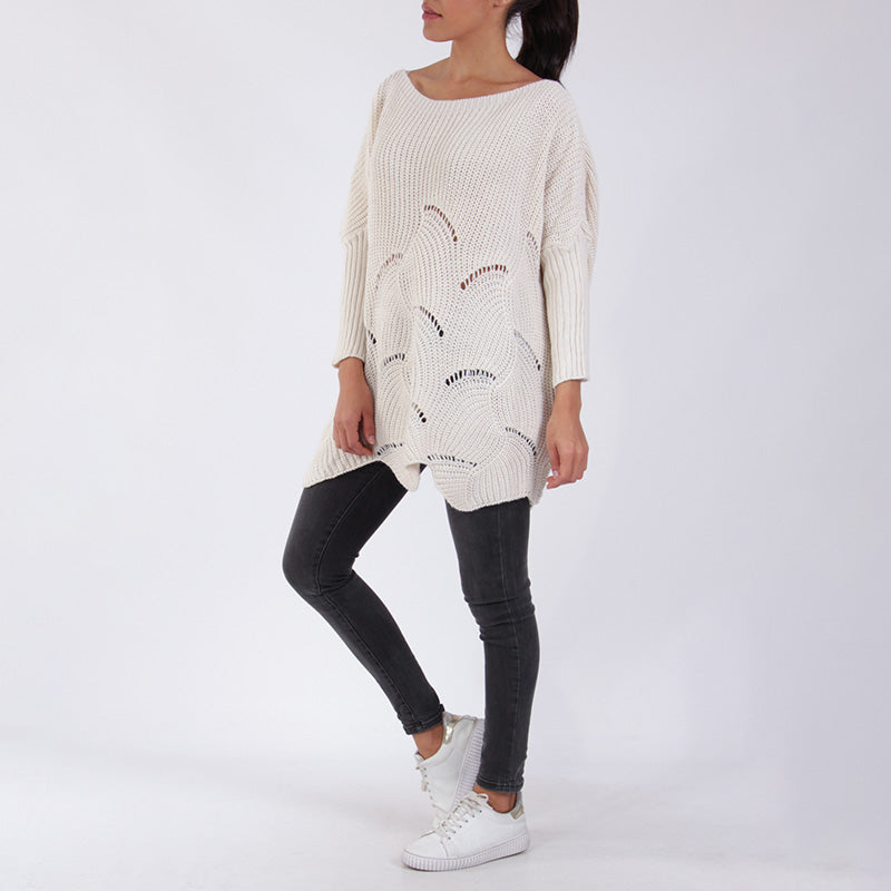 Kira Knit Oversized Sweater Cream