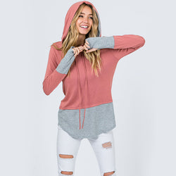 Two Tone Hoody Pink